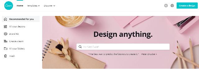 Canva free graphics designing app